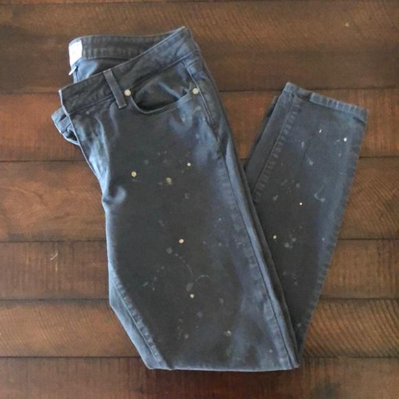 PAIGE JEANS Verdugo Ankle, gray paint splatter